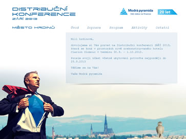 Modrá pyramida - distribuční konference